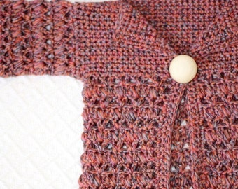 Crochet PATTERN - Baby Bobble Cardigan