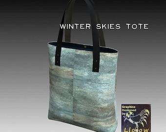 Winter Skies tote