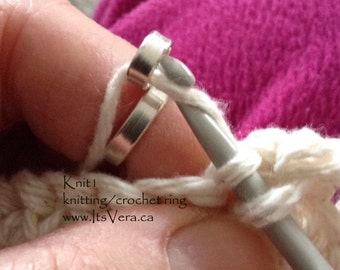 Original knitting ring, crochet ring, as seen in Knitting magazines, custom made knitting accessories, crochet tools, knitting, crochet