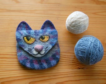 Felted Wool Purse, Cat Purse, Felted cat purse, Wool Cat Purse, Felt Cat Purse