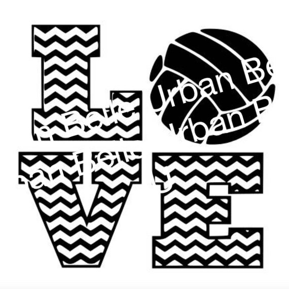 Chevron Volleyball Love Svg Dxf Cutting File Vinyl Or Paper