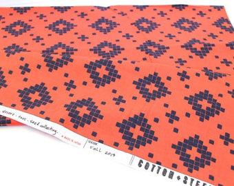 Cotton + Steel Mesa Tile Coral by Alexia Abegg Modern Quilting Cotton - 0.5 metre
