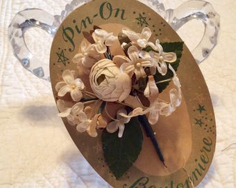 Choice of one beautiful vintage boutonnière/ corsage