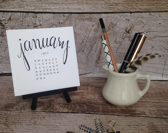 2018 Desktop Mini Calendar with easel
