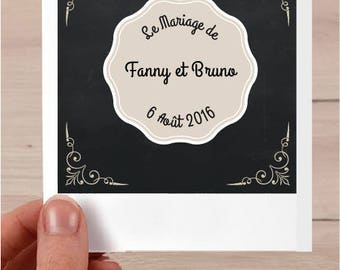 Spirit pola customizable wedding invitation