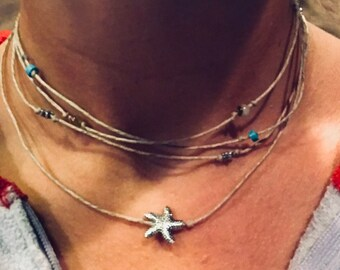 Surfer multi layered necklace