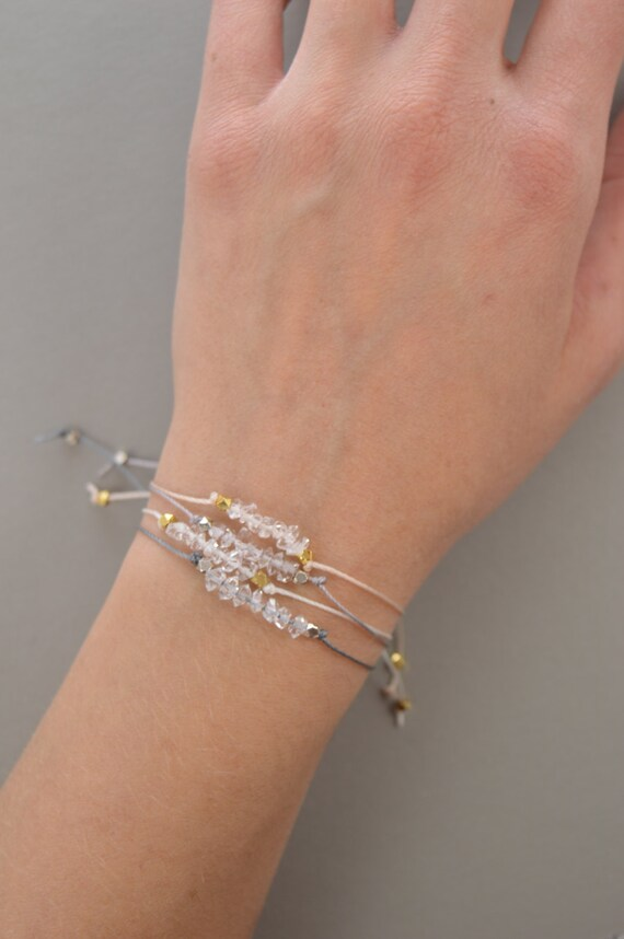 Herkimer Diamond Stacking Bracelet