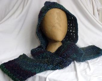 Scoodie, hood, scarf, wrap, shawl, crochet