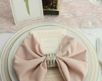 Blush Napkins 12-pack, 20 x 20 inches Blush Wedding Napkins, Blush Cloth Napkins, Wholesale Cloth Napkins