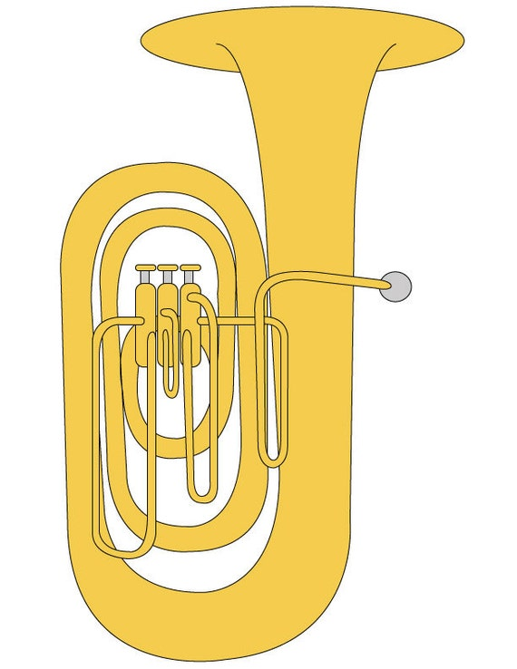 tuba clip art tuba illustration tuba graphic music student rh etsy com tuba clipart black and white tuba player clipart