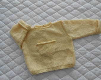 Pale yellow jacket size 6 months