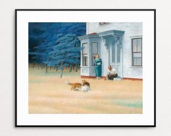 Edward Hopper Print - Cape Cod Evening, 1939 -  Edward Hopper Painting - Edward Hopper Reproduction - Cape Cod Art - Cape Cod Wall Art