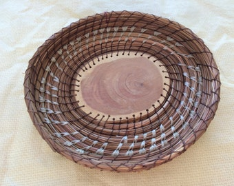Cedar Center Pine Needle Basket