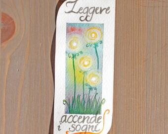 "Paper bookmark ""Read turn dreams""/""Reading Bookmark Paper lights up dreams"""