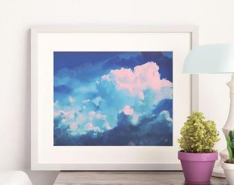 Clouds 01 - Art Print