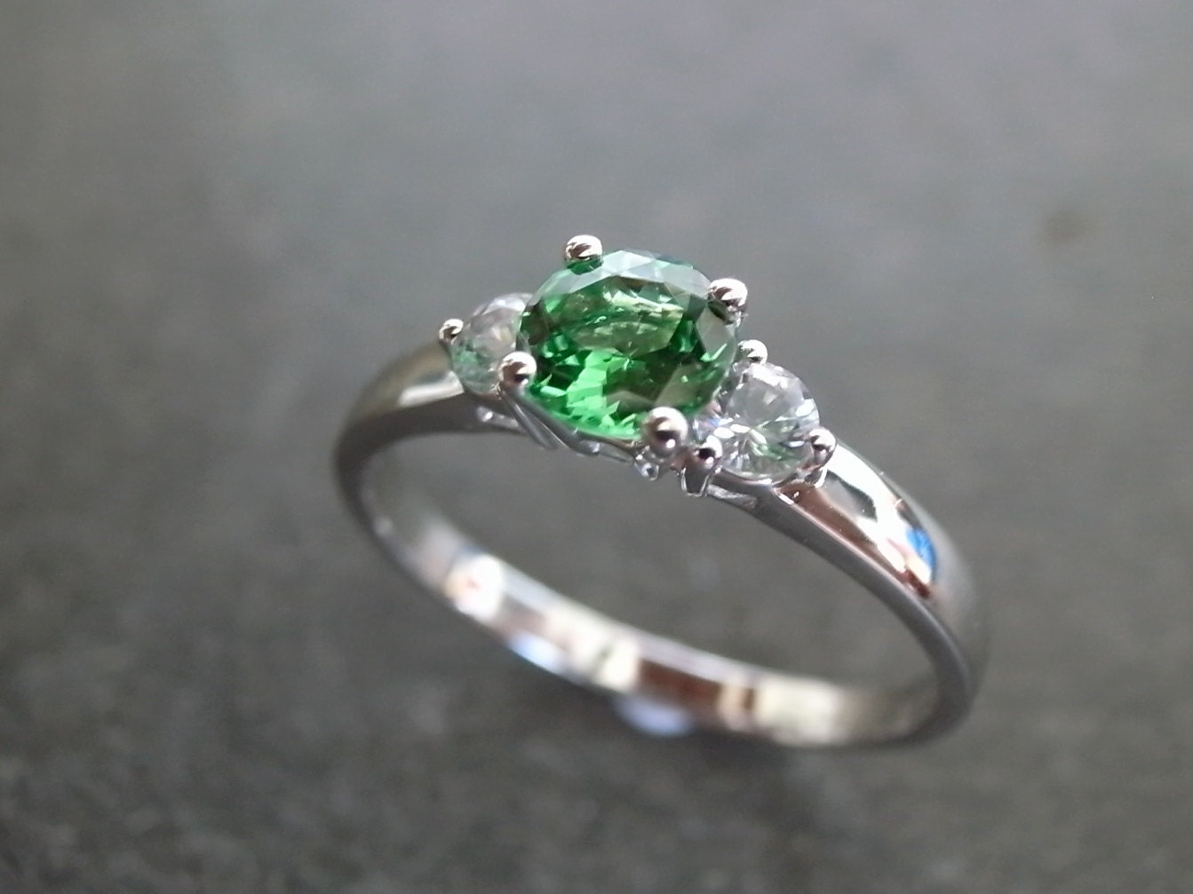rings ring unforgettable green halo engagement with cz stone products and silver centre
