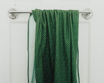 green polka dot | organic cotton t-shirt hair towel