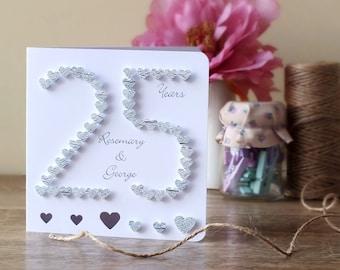 Husband anniversary card wife anniversary card th silver