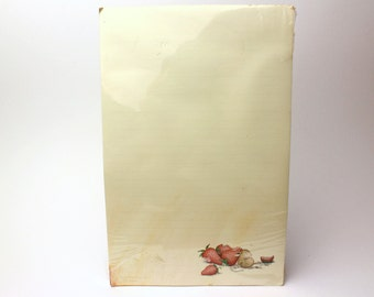 "Vintage 1991 House Mouse Designs Notepad ""Sleeping With Strawberries"" by Ellen Jareckie - Memo Paper Pad - Created in Vermont, 1986"