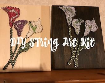 DIY String Art Calla Lily Kit
