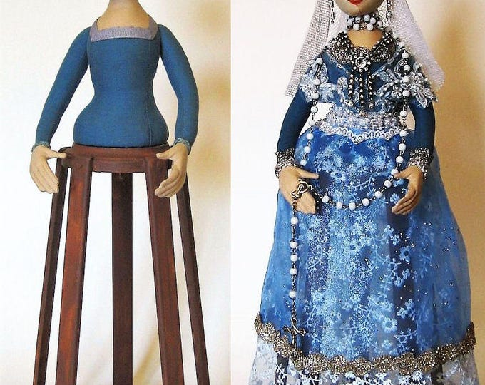 AB517E - Isabella, Santos Cage Doll PDF - Cloth Doll Making Sewing Pattern