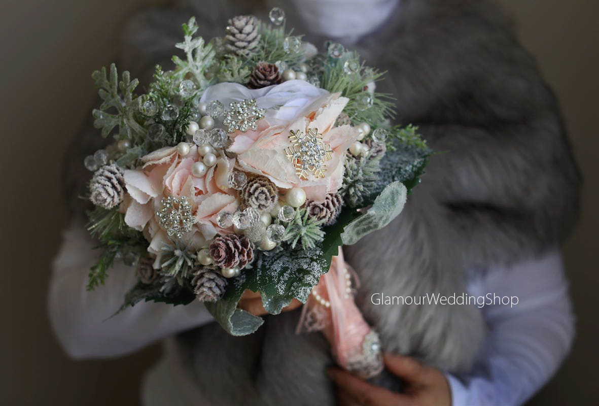 Brooch Bouquet Winter Wedding Bouquet Alternative Bridal
