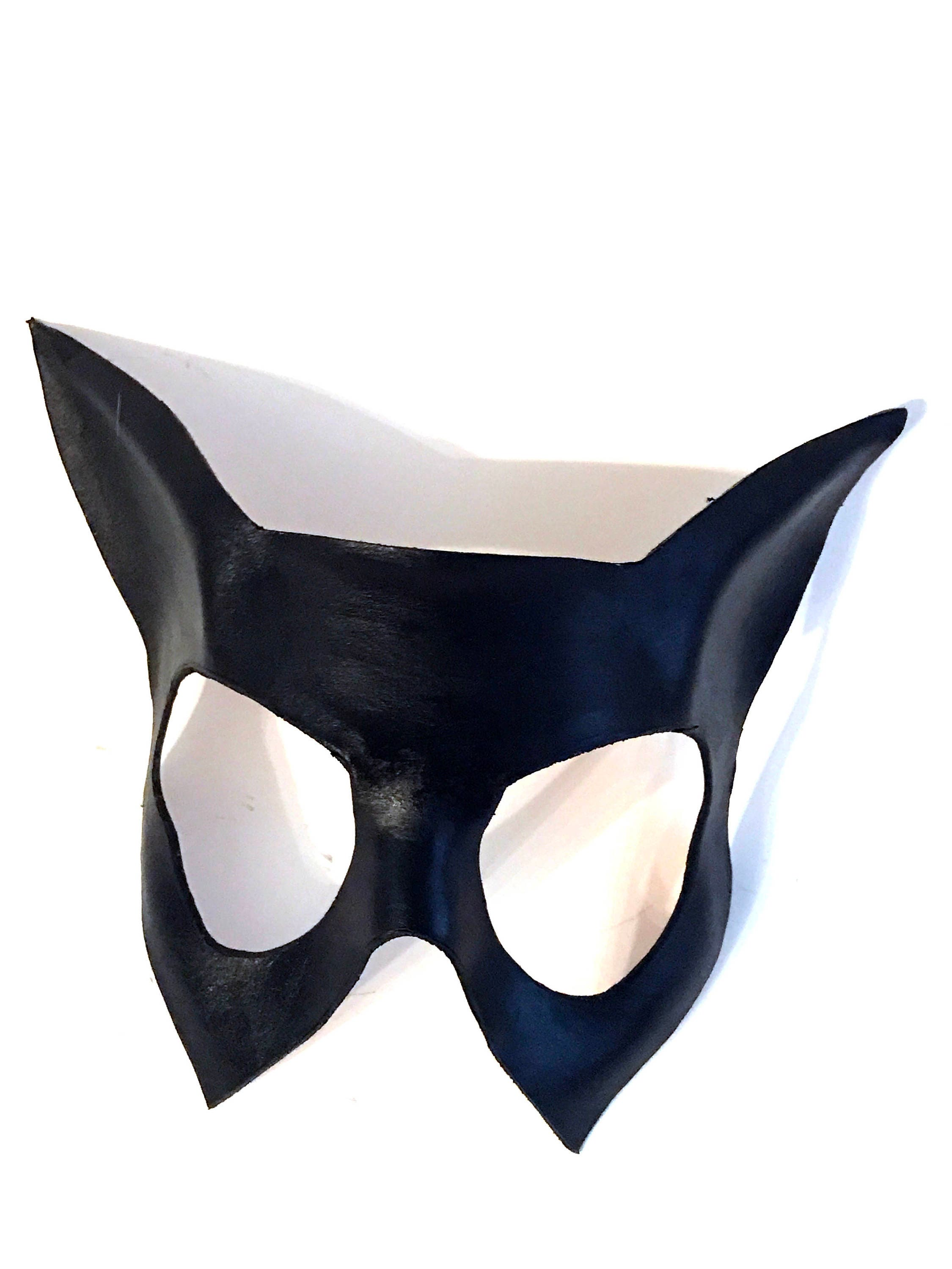 Handmade Genuine Leather Cat Mask for Masquerade Cosplay or Halloween Costumes  sc 1 st  Rockwell Masks & Handmade Genuine Leather Cat Mask for Masquerade Cosplay or ...