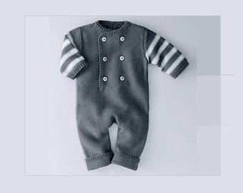 100 Cashmere Baby Romper/Overall with Long Sleeves