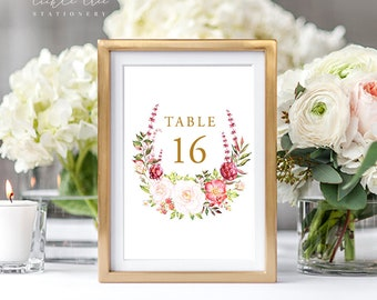 Table Number Cards - Our Embrace (Style 13848)