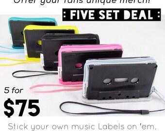 Five Set Deal • Cassette Tape Wallet Wristlets