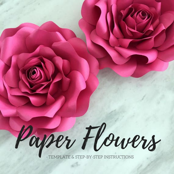 paper flower template flower template paper flower backdrop flower backdrop giant paper flower large paper flowers paper rose from accentvault