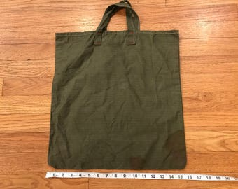 Vintage Military tote bag /Ditty bag HBT