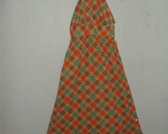 SUMMER BREEZE 1970s Vintage Halter Dress