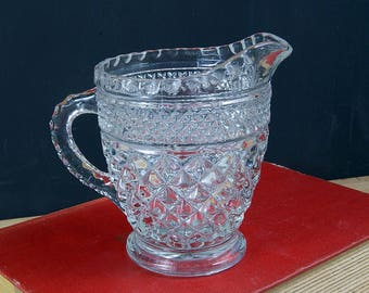 Vintage Glass Creamer in Wexford Pattern by Anchor Hocking