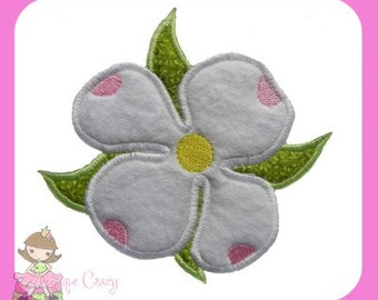 Dogwood Flower Applique design