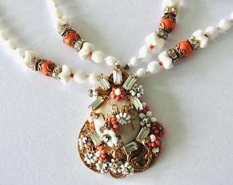 Miriam Haskell Style Elaborate Necklace