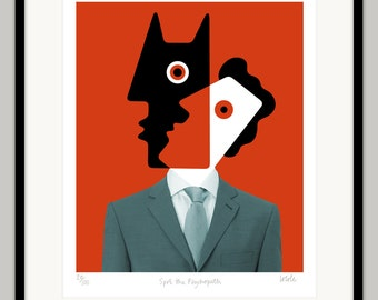 Spot The Psychopath by Lo Cole - Limited edition archival pigment ink print