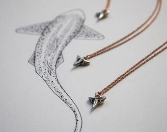 Shark Tooth Rose Gold Necklace | Reef Shark | Layering Necklace | Shark Necklace