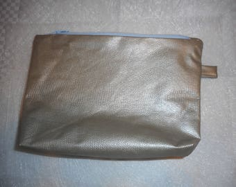 Romantic gold waxed canvas pouch
