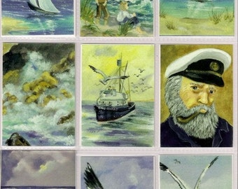 Seascape aceo collection set of 18