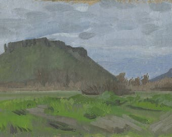 Original Oil Painting: Table Rocks Early Spring, Plein Air
