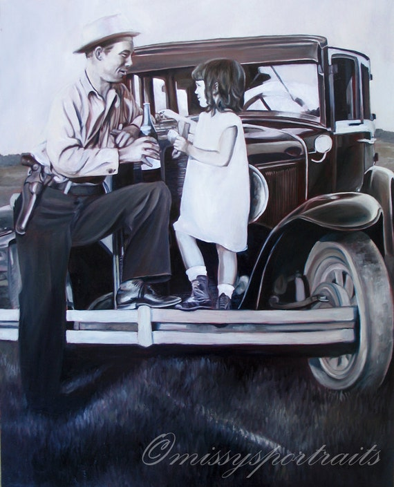 CUSTOM PORTRAIT - Oil Painting - From a Black and White Photo - Perfect Gift