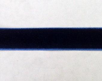 """Roll of 66 yards  navy blue  velvet Ribbon 5/8"""""""