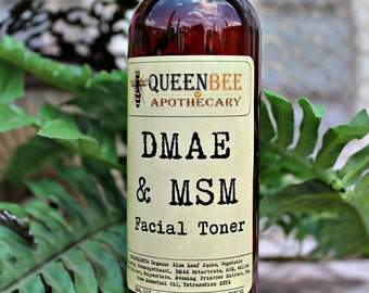 DMAE & MSM Skin Toner with Evening Primose - 90% Organic Content - 4 Ounce