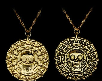 Pirates of the Caribbean Aztec coin inpired Pendant