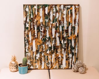 Neutral Brown Abstract Painting