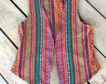 hill tribe fabric vest