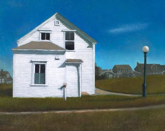 "Giclee, archival print of the painting ""Rose Cottage"" signed by the artist."