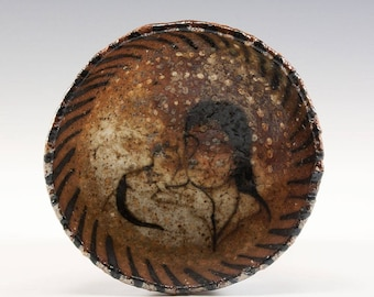 Wood Fired Pinch Bowl by Jenny Mendes - Kitty on her Shoulder