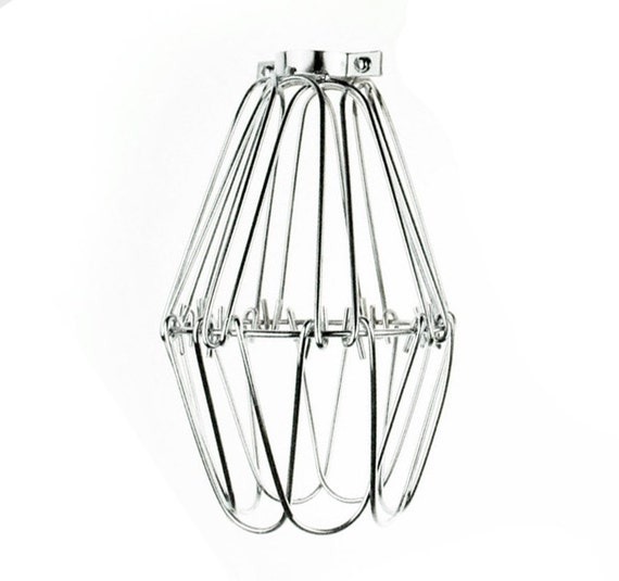 vintage industrial pendant wire cage flower for desk side lamp